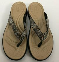 Crocs Sandals Flip Flops Dual Comfort V Graphic Sequin Flip Women's Size 10 - $18.18