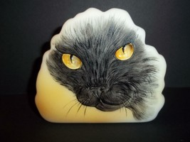 Fenton Glass Black Cat Golden Eyes Iceberg Paperweight Ltd Ed M Kibbe #8/16 - $183.82