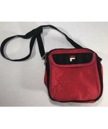 VTG Fila Lunch Bag Cooler 90s Hip Hop Red Pouch Messenger BJ Borg Grant ... - $17.00