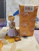 Enesco Growing Up Blonde Porcelain Girl Doll Age 4 - $16.82
