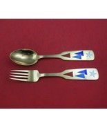 Christmas by A. Michelsen Sterling Silver Fork and Spoon Set 2pc 1954 Co... - $286.11