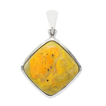 Bumble Bee Jasper Stone Pendant Necklace by Stones Desire - $126.42