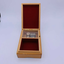 Vintage Wooden Trinket Jewelry  Music Box Sisters Best Friends Mementos  - $14.84