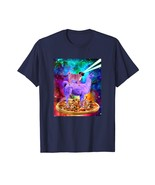 Dog Fashion - Laser Eyes Outer Space Dog Funny Llama Unicorn T-Shirt Men - $19.95+