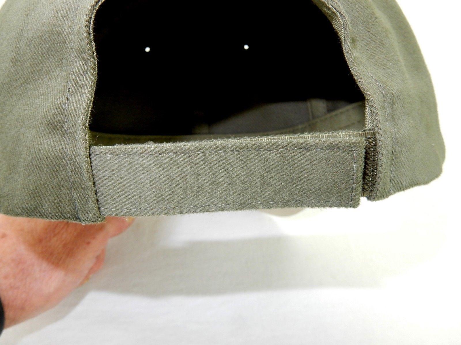 Baseball Cap, 6-Panel FlexFit w/Adjustable Headband, Cotton, Stone/Olive, #6161