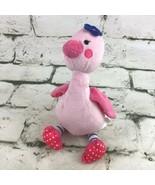 Just One You By Carters Pink Flamingo Plush Stuffed Animal Sewn Eyes Cri... - $16.82