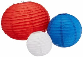 Fourth of July Party Round Lantern Hanging Decoration (6 Piece), Red/Whi... - £8.72 GBP
