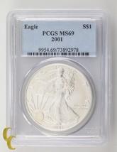 2001 Silver 1 oz American Eagle $1 PCGS Graded MS69 - $98.99