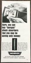 1967 Monroe Shock Absorbers Print Ad You Can Buy Bargain But - $10.89