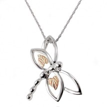 Black Hills Gold on Sterling Silver Dragonfly Pendant By Landstrom's® - $75.24
