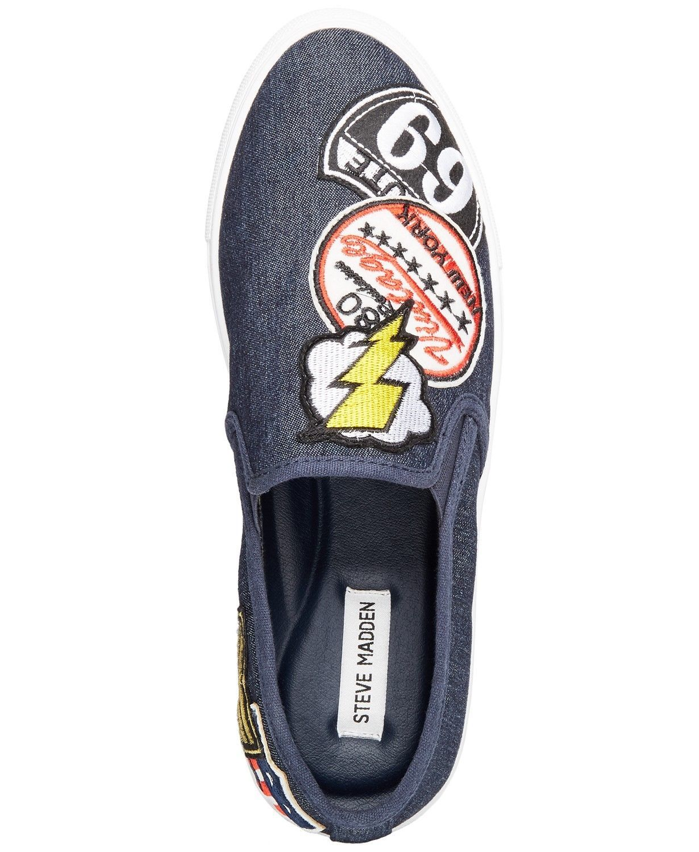 Steve Madden Wasdin Navy Blue or Military Denim Slip On Loafers Mens Vintage image 7