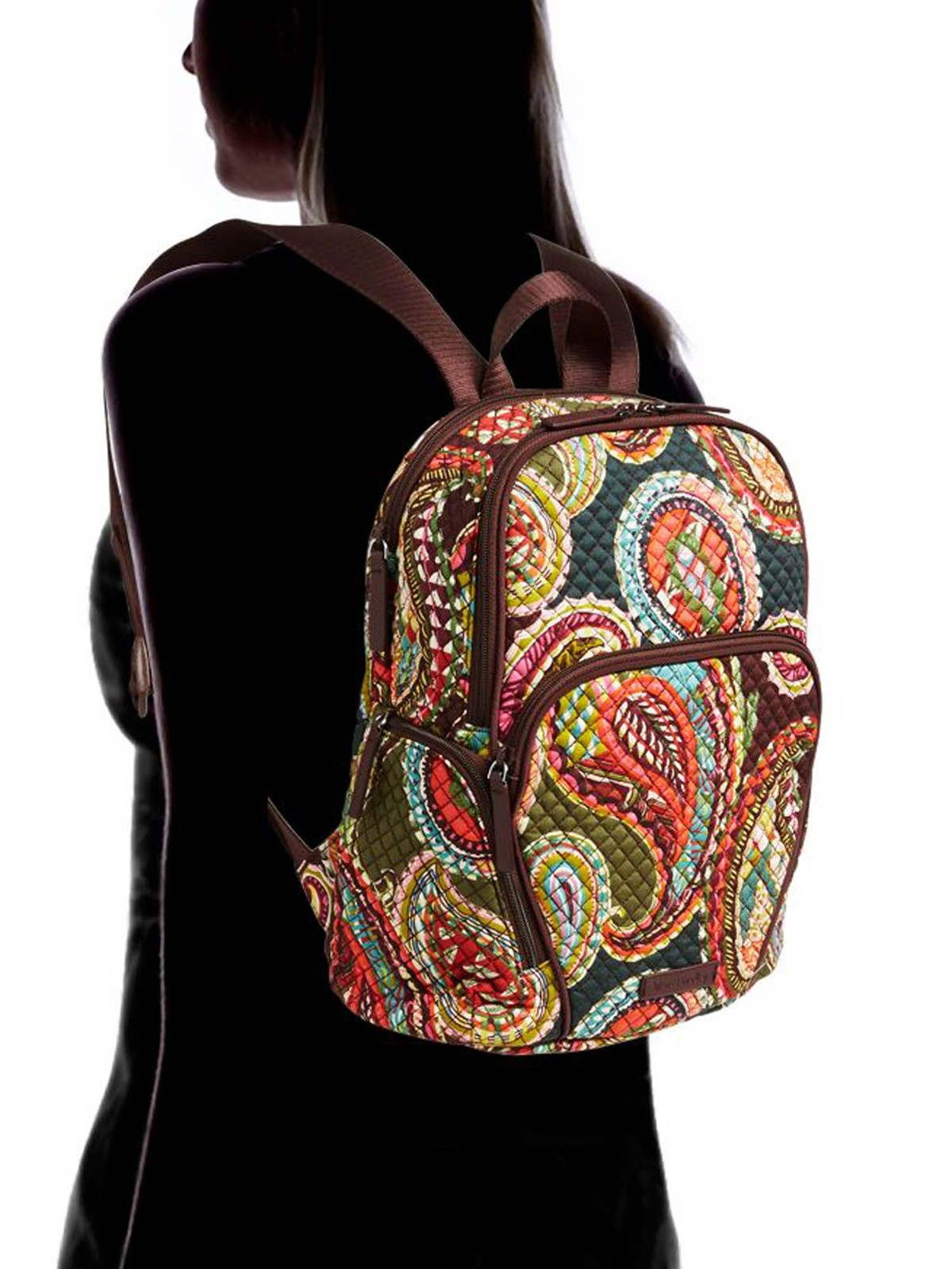 Vera Bradley Quilted Signature Cotton Hadley Backpack, Heirloom Paisley