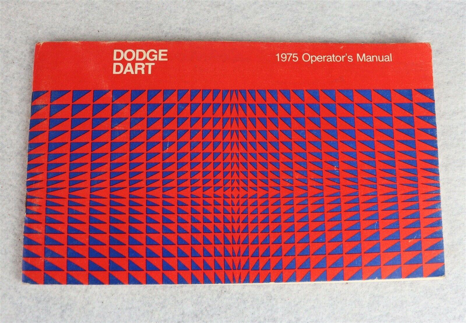 1975 Dodge Dart Operator's Manual