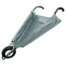 Outdoor Folding Cart Six cubic feet Gray Durable Garden Wheelbarrow Ligh... - $167.72