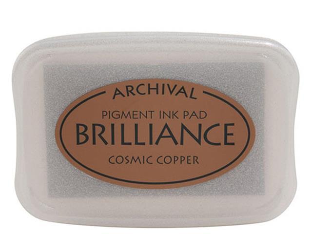 Tsukineko Brilliance Full Size Archival Pigment Ink Pad, Cosmic Copper