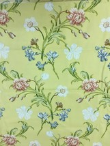 Schumacher Greeff Yellow Floral Print Upholstery Drapery Fabric 4.5 yards - $85.50