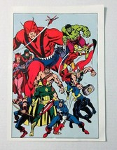 1978 Marvel Avengers poster 1: Captain America/Thor/Hulk/Iron Man/Black ... - $39.59