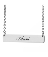 Custom Any Name Bar Necklace Christmas Mother Day Gift for Anni - $9.99+