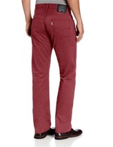 NEW LEVI'S STRAUSS 514 MEN'S ORIGINAL SLIM STRAIGHT LEG JEANS PANTS RED 514-0530 image 2