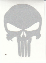 """REFLECTIVE Punisher fire helmet window decal sticker up to 12"""" RTIC car - $3.46+"""
