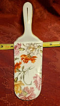 BEAUTIFUL VINTAGE GERMAN PORCELAIN  FLOWERS CAKE PIE SERVER MADE IN GERMANY image 3