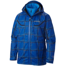 Columbia Men's Big 1X 2X 3X Whirlibird Interchange Jacket Coat Azul Plai... - $101.50