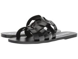 Steve Madden SICILY Slide Flats Sandals Black Women Size 8.5 - $58.98