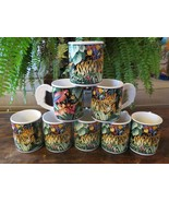 8 Vitromaster Tropical Rain Forest Rainforest Tiger Parrot Mugs Cups - $58.20