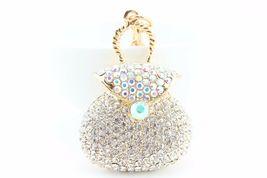 White Purse Bag Fashion Keychain Crystal Charm Cute Gift Pouch #MCK11 - $18.17