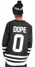 Dope Couture Hombre Básico Blanco y Negro Manga Larga Hockey Jersey Nwt image 2
