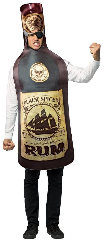 Rum Get Real Costume Adult Alcohol Halloween Party Unique Cheap GC6835