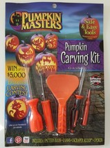 Pumpkin Masters Jack o Lantern Carving Kit Pattern Book 3 Saws Scoop Pok... - €8,43 EUR