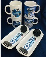 Oreo cookie Collection of 4 mugs & 2 trays Nabisco, Huston Harvest, Kraft - $38.60
