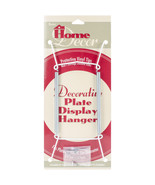 Decorative Plate Display Hanger Expandable 7.5 Inches To 9.5 Inches White - $10.66