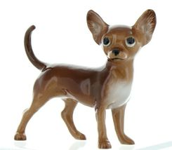Hagen Renaker Pedigree Dog Chihuahua Large Brown and White Ceramic Figurine image 4