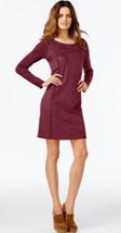 INC International Concepts Women Whip-Stitch Moleskin Boho Berry Sweater... - $39.99