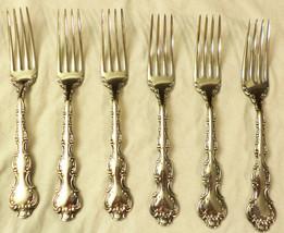 """6 Birks Regency Plate Louis de France Dinner Forks NO Monogram 7"""" 1950s - $75.99"""