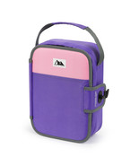 Arctic Zone Zipperless Lunch Box lunchbox cooler built in tray Purple an... - $14.07