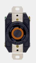 New!! Leviton V-O-Max Black Nylon Grounded Outlet 30 Amp 125/250 Volt 02710-00D - $35.99