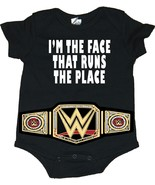 """I'm The Face That Runs The Place"" WWE Baby Creeper/Bodysuits With Belt - $19.79"