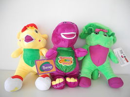 "12"" Tall Barney Singing Fisher-Price Plush Doll, BJ & Baby Bop 3pcs set toy - $36.53"