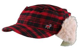 "Christys Crown ""Hunter"" Plaid Faux Shearling Ear Flap Cap Hat Medium/Large NWT image 2"