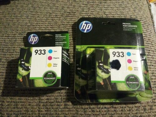2x HP 933 Cyan Magenta Yellow Ink Cartridges 3 Pack N9H56FN Exp 07/18 07/19 NIP