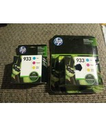 2x HP 933 Cyan Magenta Yellow Ink Cartridges 3 Pack N9H56FN Exp 07/18 07... - $32.66