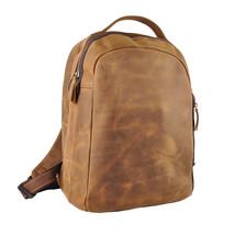 Mens Crazy Horse Genuine Leather School Travel Backpack Messenger Bag Vi... - $95.00