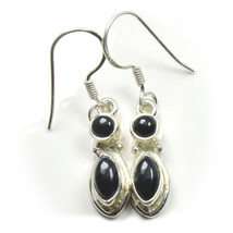 Natural Black Onyx Earring Mixed Shape Sterling Silver  UEFO4-240 - $23.56