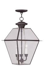 Livex Lighting 2385-07 Westover 3-Light Outdoor Hanging Lantern, Bronze - $393.44