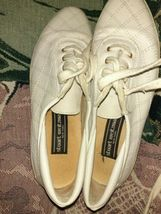 Stuart  Weitzman 7 M White Sneakers Lace Up  Shoes - $37.82