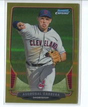ASDRUBAL CABRERA GOLD REFRACTOR SER# 7/50 2013 Bowman Chrome #141 Indians - $4.49