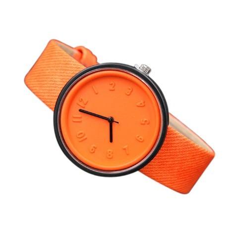 Round Simple Fashion Watches Canvas Belt Unisex Casual Wristwatch Box image 10
